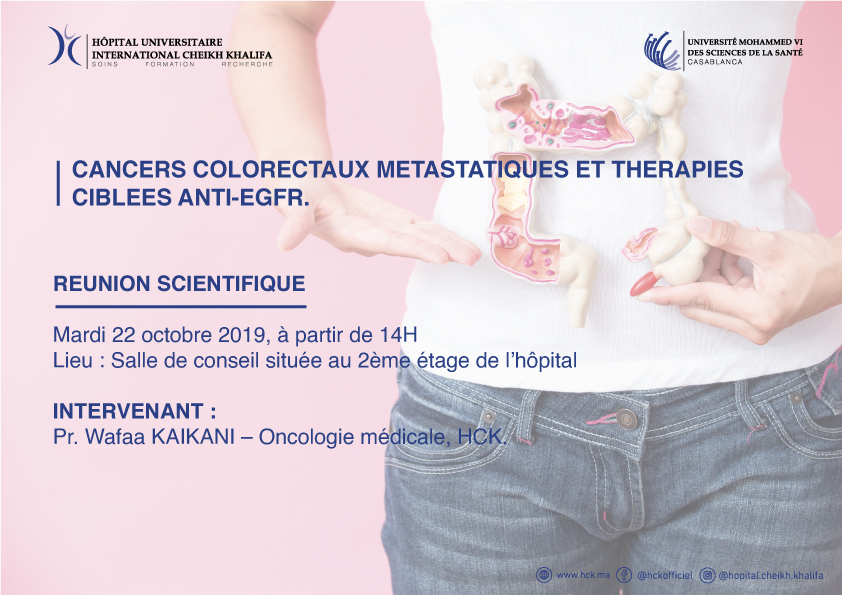 REUNION SCIENTIFIQUE : CANCERS COLORECTAUX METASTATIQUES ET THERAPIES CIBLEES ANTI-EGFR