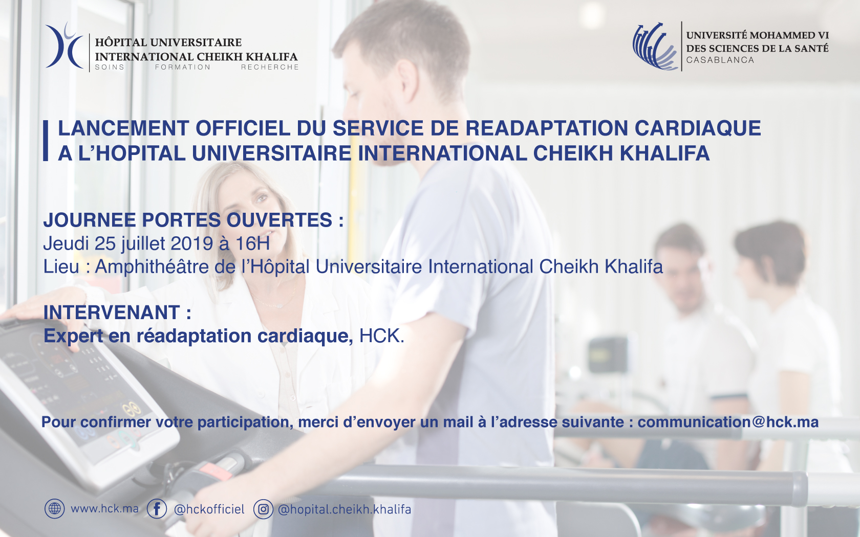 LANCEMENT DE LA READAPTATION CARDIAQUE A L'HOPITAL UNIVERSITAIRE INTERNATIONAL CHEIKH KHALIFA
