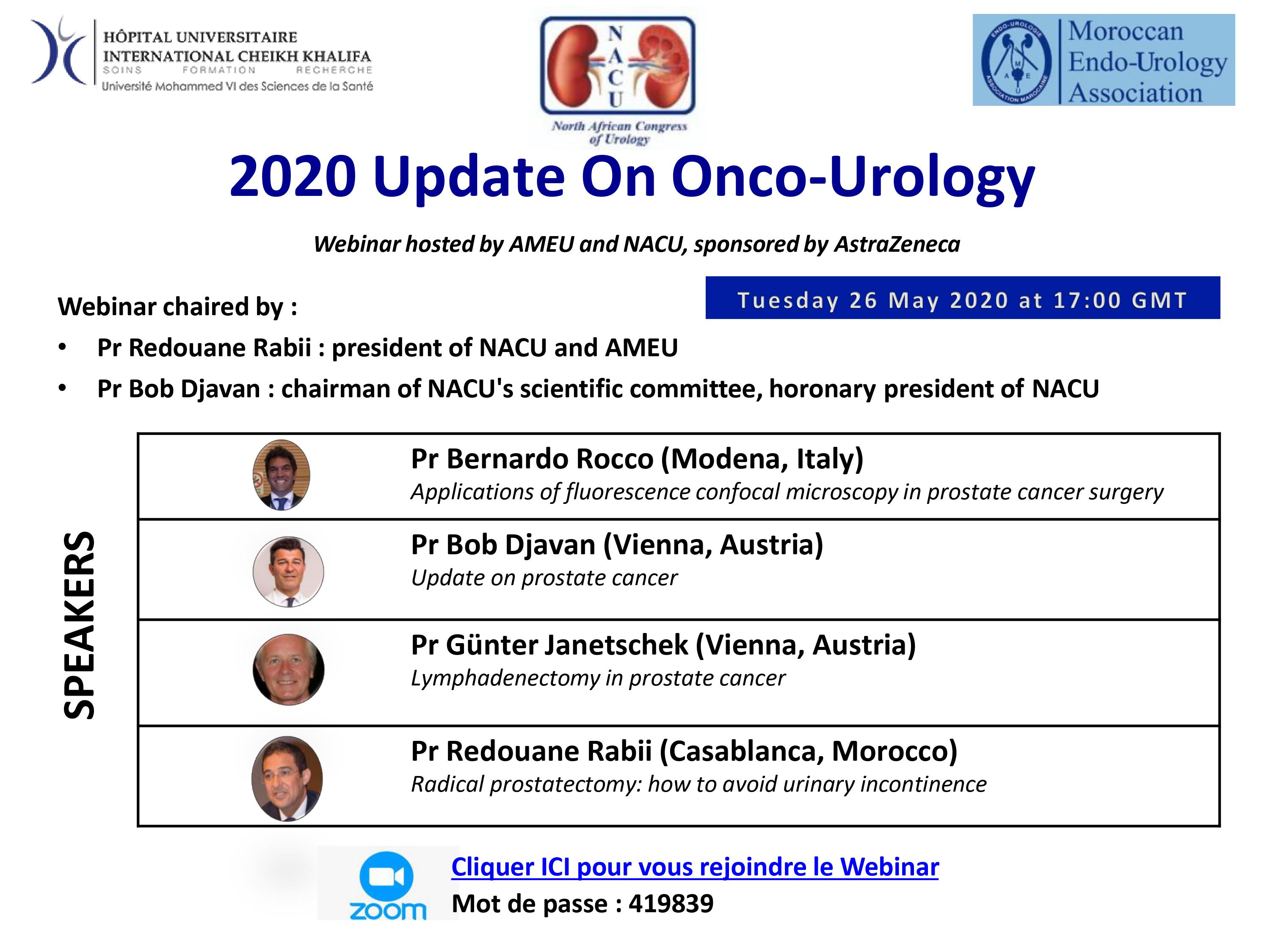Webinar : 2020 Update On Onco-Urology