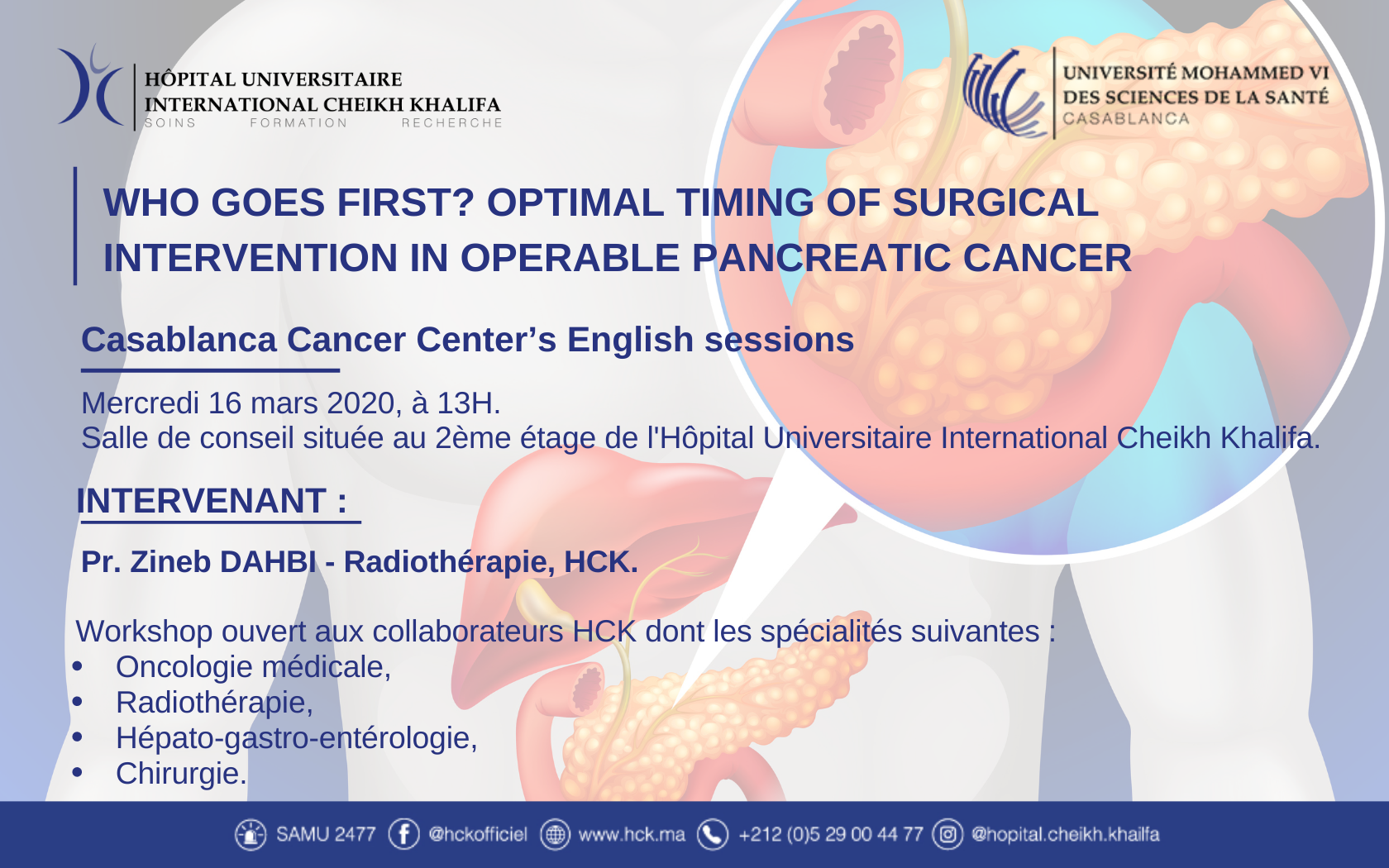 CCC's ENGLISH SESSION : WHO GOES FIRST? OPTIMAL TIMING OF SURGICAL INTERVENTION IN OPERABLE PANCREATIC CANCER