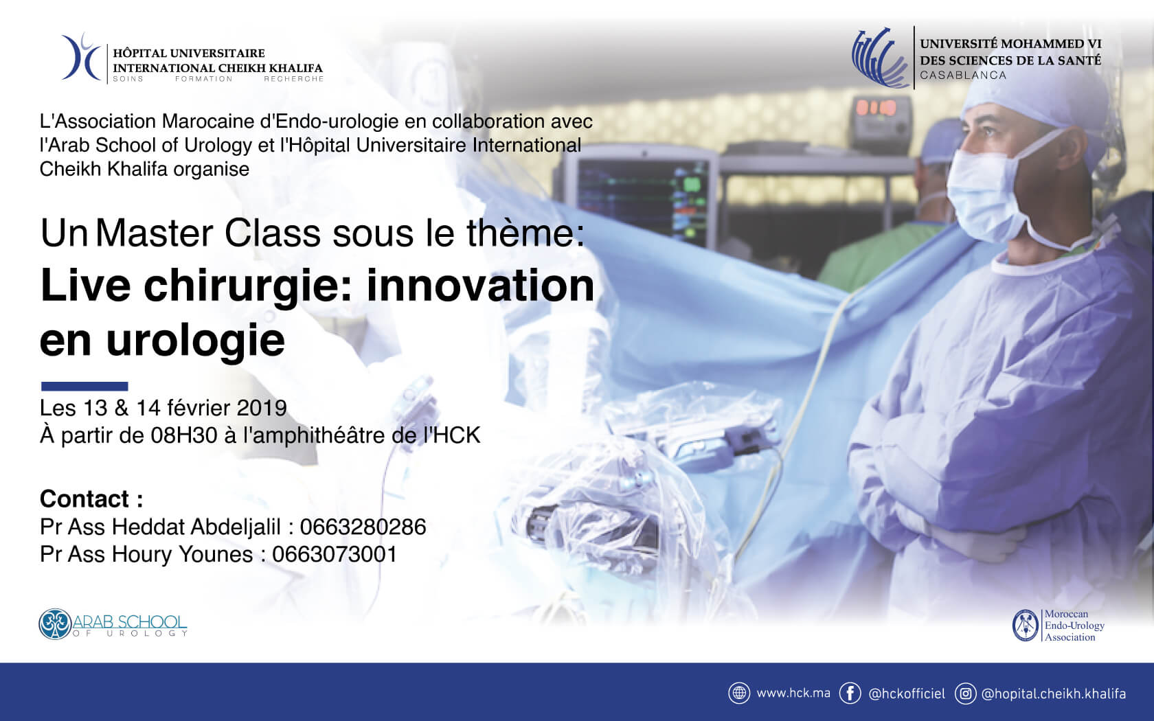 Master Class : Live chirurgie - innovation en urologie