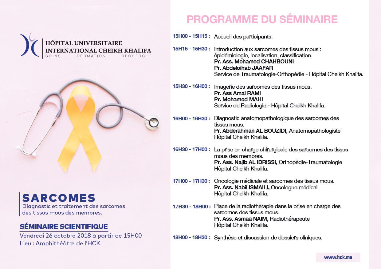 programme séminaire scientifique sur les sarcomes